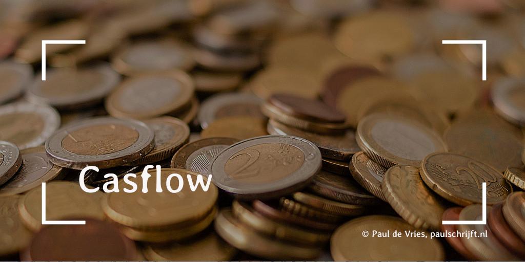 Muntgeld bij het versje 'Cashflow' van Paul Schrift