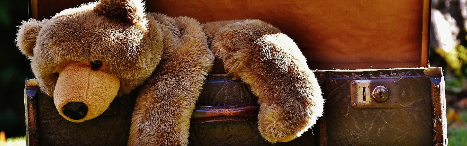 Koffertje met teddybeer
