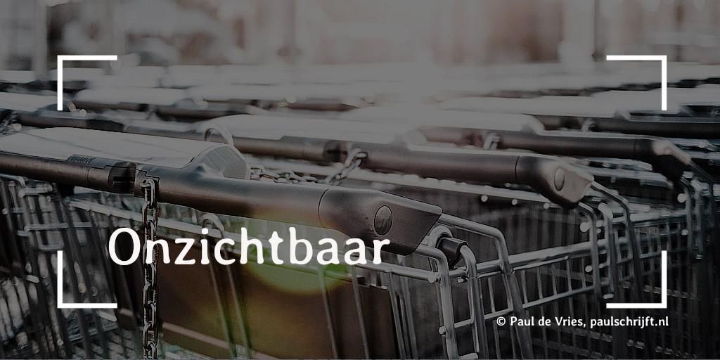 Geparkeerde winkelwagentjes bij de column 'Onzichtbaar' van Paul Schrijft. Foto Viktor Hanacek